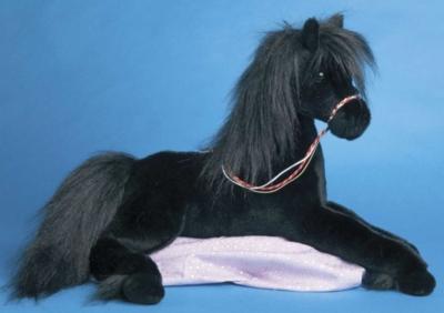 Mercury Black - 22'' Horse By Douglas Cuddle Toys