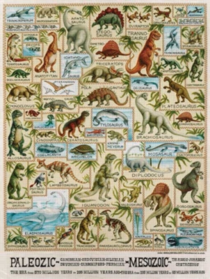 Dinosaur Chart - 300pc Large Format Jigsaw Puzzle by Sunsout