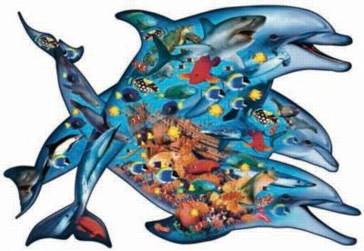 Deep Blue Sea - 1000pc Shaped Jigsaw Puzzle by Sunsout