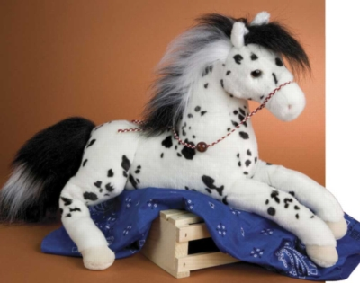 Black Hills Black and White Spotted - 22'' Horse By Douglas Cuddle Toys