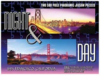 San Francisco - 2 x 500pc TDC Panoramic Jigsaw Puzzles