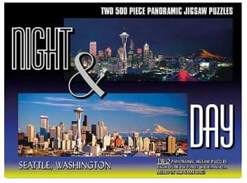 Seattle - 2 x 500pc TDC Panoramic Jigsaw Puzzles