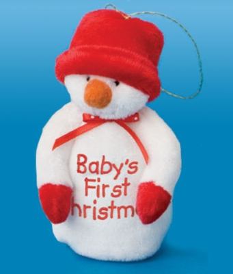 Snowman Ornament Rattle - 5'' Rattle By Douglas Cuddle Toys