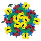 In the Garden - 77pc Tessellation Magnet Pack