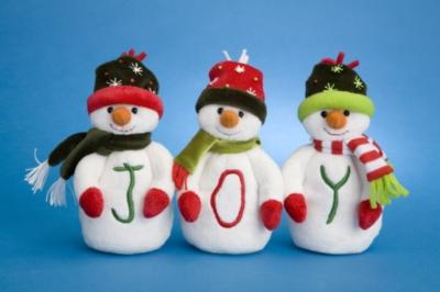Joy (Set of 3) - 6'' Snowman By Douglas Cuddle Toys