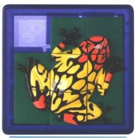 3D Slide Puzzle: Orange Frog - Sequential Puzzle