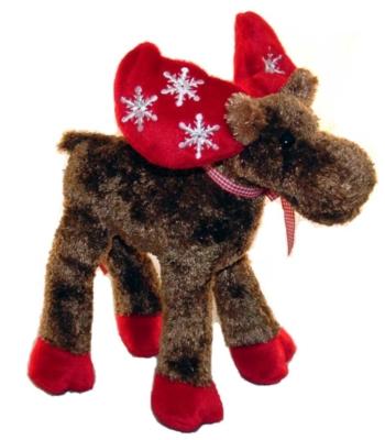 Flakey - 9'' Moose By Douglas Cuddle Toys