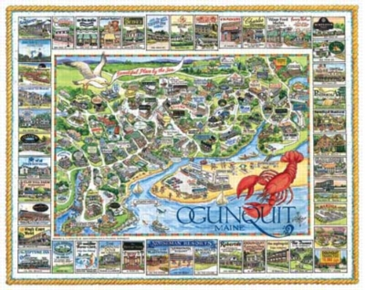 Ogunquit, ME - 1000pc Jigsaw Puzzle by White Mountain