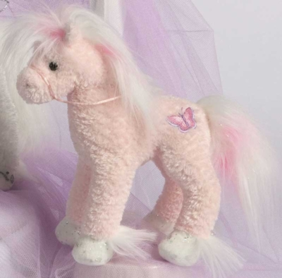 """Butterfly - 9"""" Horse by Douglas Cuddle Toys"""