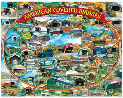 American Covered Bridges - 1000pc Jigsaw Puzzle By White Mountain