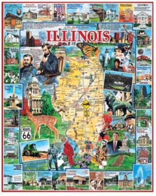 Illinois - 1000pc Jigsaw Puzzle By White Mountain