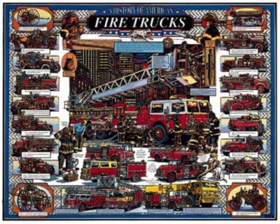 American Fire Trucks - 1000pc Jigsaw Puzzle By White Mountain