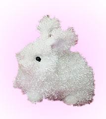 Opal Angora Bunny - 6'' Rabbit By Douglas Cuddle Toys