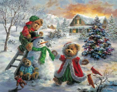 Winter Merriment - 550pc Jigsaw Puzzle by White Mountain