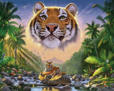 Majestic Tiger - 1000pc Jigsaw Puzzle by White Mountain