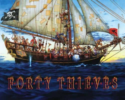 Forty Thieves - 1000pc Jigsaw Puzzle by White Mountain