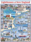 Lighthouses of New England - 1000pc Jigsaw Puzzle by White Mountain