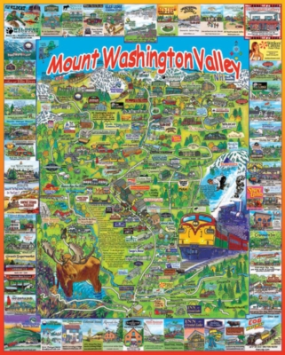 Mount Washington Valley, NH - 1000pc Jigsaw Puzzle by White Mountain