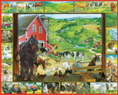 On the Farm - 1000pc Jigsaw Puzzle by White Mountain
