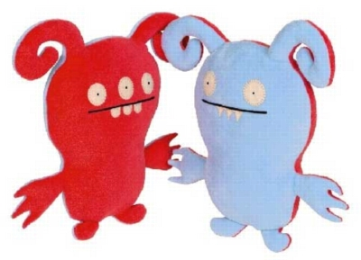 Turny Burny Red & Blue - 7'' Little Uglys by Uglydoll