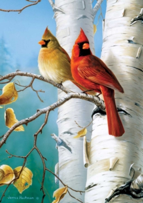 Large Format Jigsaw Puzzles - Hautman Brothers: Cardinals and Birch