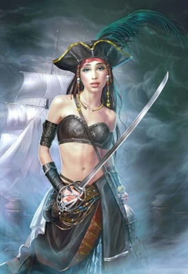 Female Pirate - 1000pc Jigsaw Puzzle by Castorland