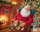 Santa's Cat Nap - 1000pc Jigsaw Puzzle by Springbok