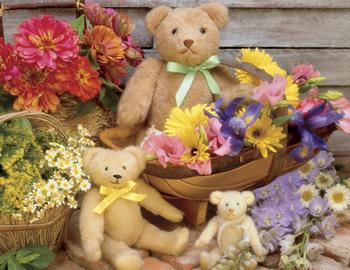 Springbok Large Format Jigsaw Puzzles - Teddy Bear Basket