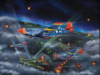 Night Fighters (Tuskegee Airmen) - 500pc Jigsaw Puzzle by Sunsout