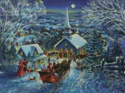 Dashing through the Snow - 1000pc Jigsaw Puzzle by Sunsout