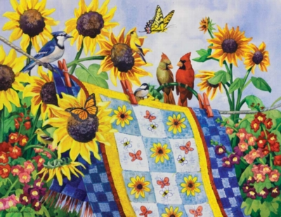 Large Format Jigsaw Puzzles - Meeting at the Clothesline
