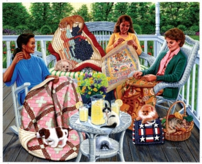 Sewing Circle - 1500pc Jigsaw Puzzle by Sunsout