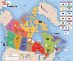 Kids Map of Canada - 300pc Jigsaw Puzzle by Cobble Hill