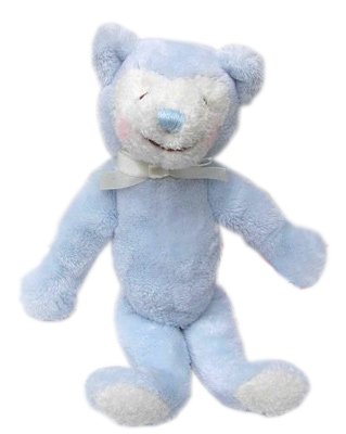 Blue Bear - 10'' Rattle By Douglas Cuddle Toys