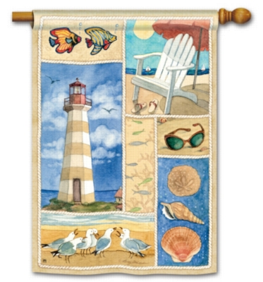 Coastal Collage- Standard Flag by Magnet Works