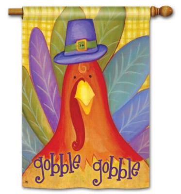 Gobble Gobble- Standard Flag by Magnet Works