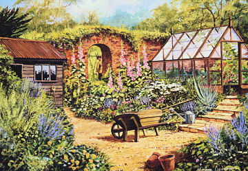 Country Garden - 1000pc Jigsaw Puzzle by Falcon