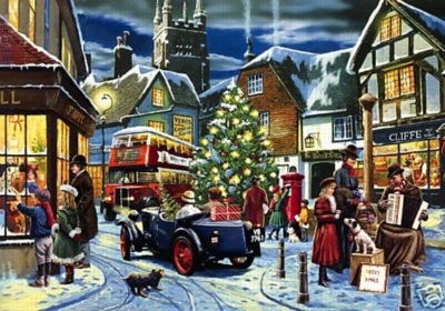 Christmas Illustrated - 1000pc Jigsaw Puzzle by Falcon