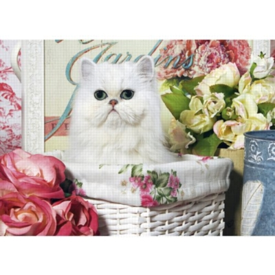 Cat In Basket - 1000pc Jigsaw Puzzle by Jumbo