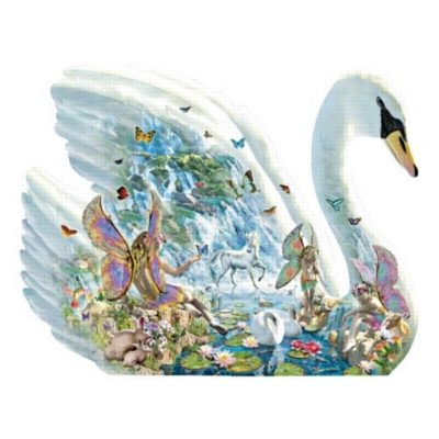 Angelic Swan - 1000pc Shaped Jigsaw Puzzle by Jumbo