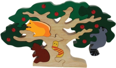 Apple Tree Feast - 9pc Eco-Friendly Wooden Jigsaw Puzzle by ImagiPLAY