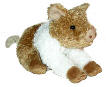 Wiggly - 5'' Pig By Douglas Cuddle Toys