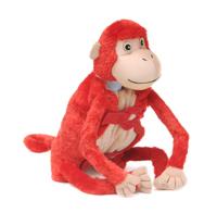 "Baby Mashaka (Plush / Pillow / Blanket) - 17"" Monkey by Zoobie Pets"