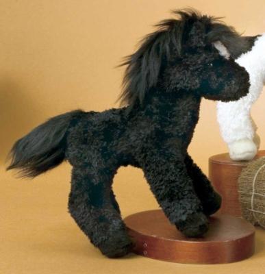 Cobalt Mini Black Horse - 6'' Horse By Douglas Cuddle Toys