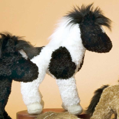 Vicky Mini Black and White - 6'' Horse By Douglas Cuddle Toys