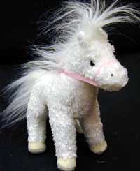 Dew Drop White Horse - 6.5'' Horse by Douglas Cuddle Toys