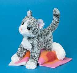 Punky Gray Tabby Cat - 6'' Cat by Douglas Cuddle Toys