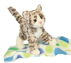 Niki Brown Tabby Cat - 6'' Cat by Douglas Cuddle Toys