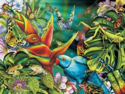 Blue Parrot & Friends - 300pc Large Format Jigsaw Puzzle by Sunsout