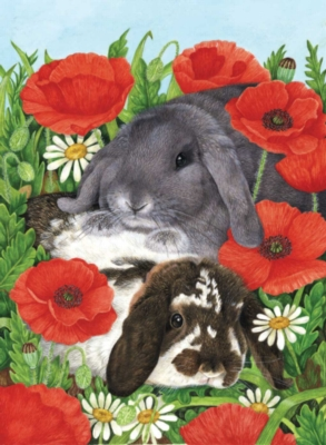 Red Poppies - 300pc Large Format Jigsaw Puzzle by Sunsout